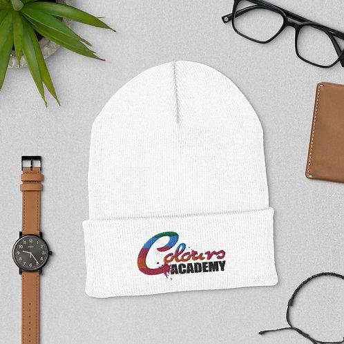 Colours Academy White Cuffed Beanie