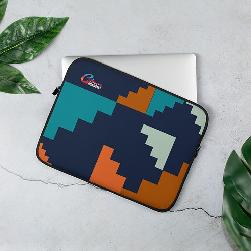 Colours Academy Navy staircase Laptop Sleeve
