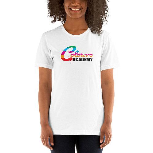 Colours Academy Short-Sleeve White Unisex T-Shirt