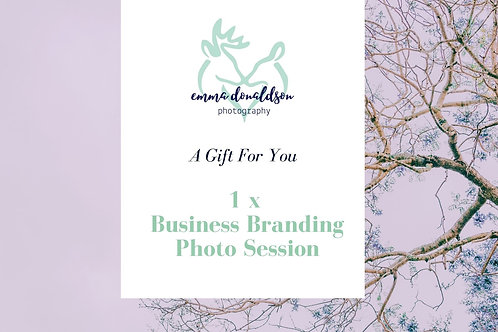 Business Branding Photoshoot Gift Voucher