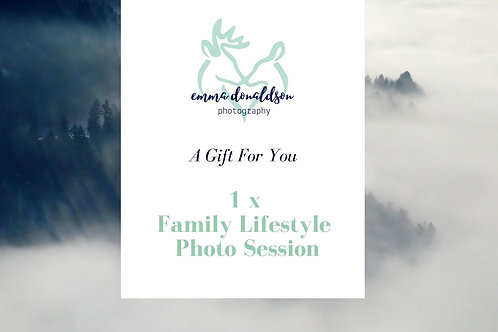 Family Lifestyle Session Gift Voucher