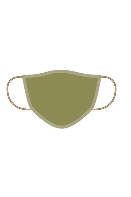 Masque coton lavable Kaki