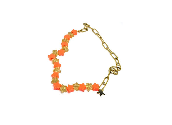 COLLIER ROSY OR'ANGE