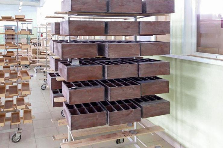Фабрика по производству деревянных дисплеев для чая и кофе