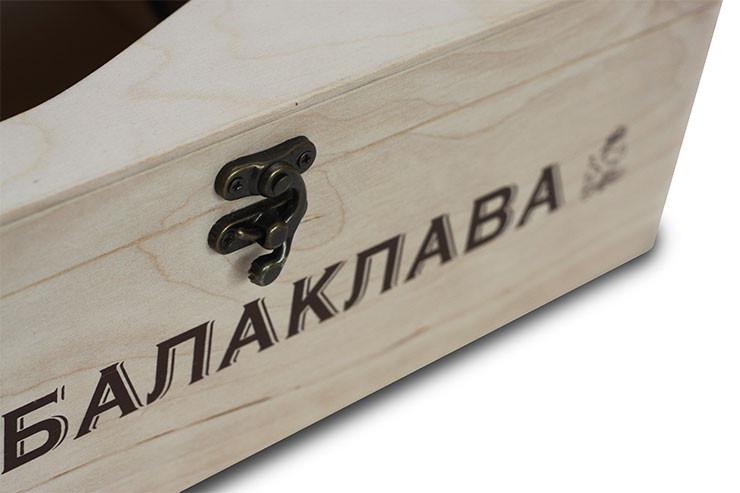 Деревянная подарочная упаковка для шампанского