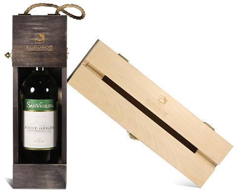 Упаковка из дерева для вина на заказ