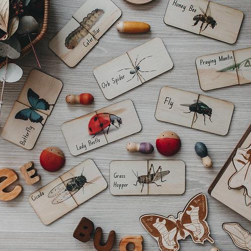 18 Piece Australian Themed Matching Puzzle - Creepy Crawlies