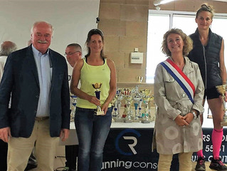 Podium for Liz at Foulees de Chambon