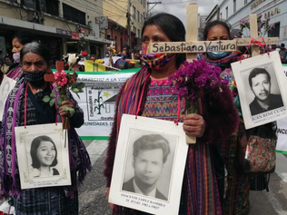 Guatemalan genocide survivors march for justice
