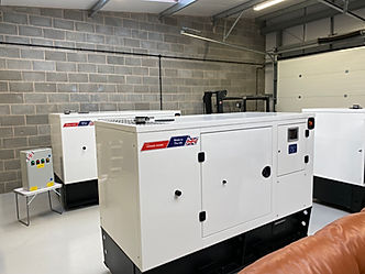 White Perkins Diesel Generator manufactured by Prime Power Solution