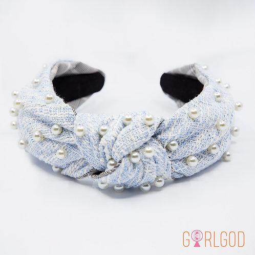 Dionne Headband - Blue & White