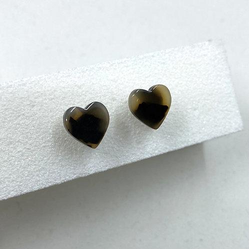 Tortoiseshell Heart Earrings