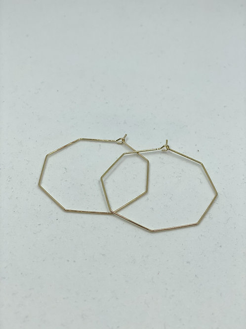Octogonal Hoop Earrings