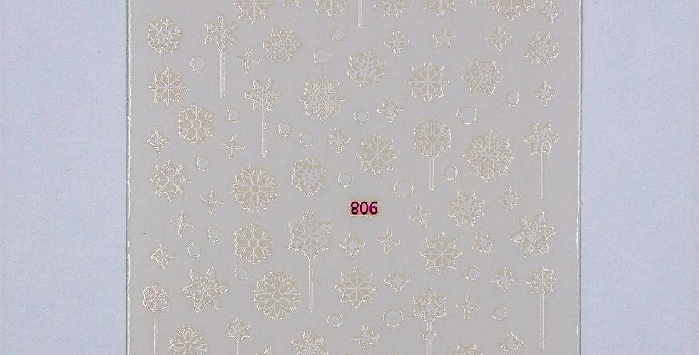 Snow Flake Sticker #26