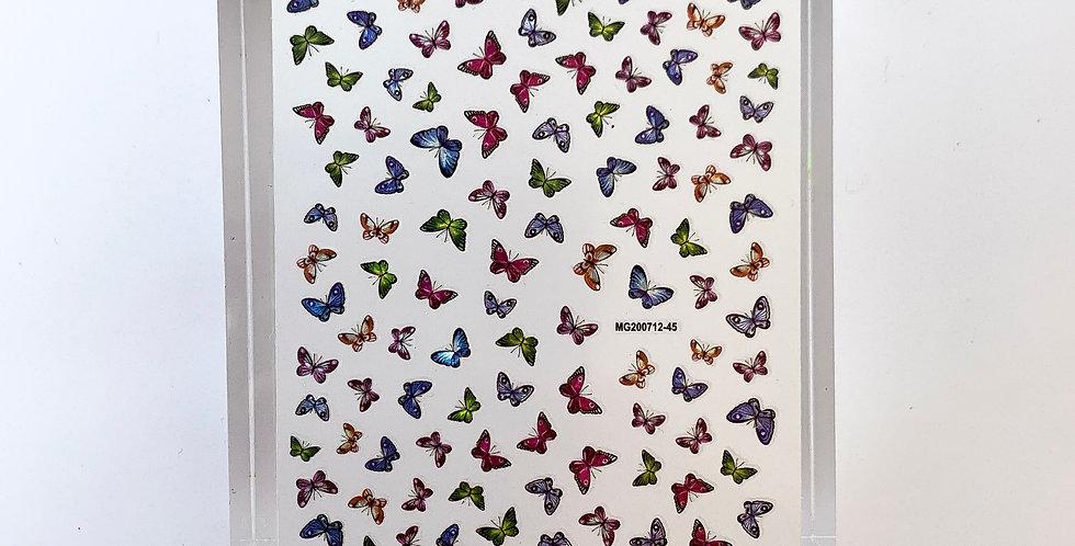 Hologram Butterfly Sticker #13