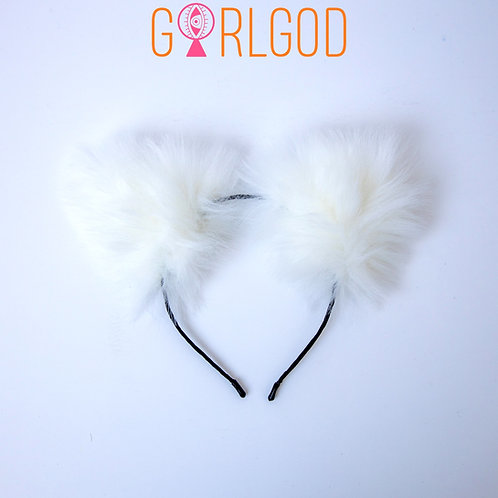 Winter Kitty Girl White
