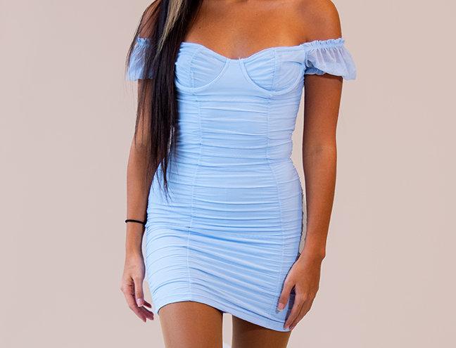 """WTFnagz"" Bby Blue Mini Dress"