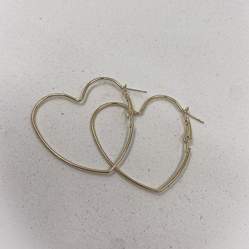 Heart U Hoop Earrings