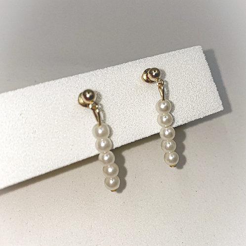 Pearled Down Earrings