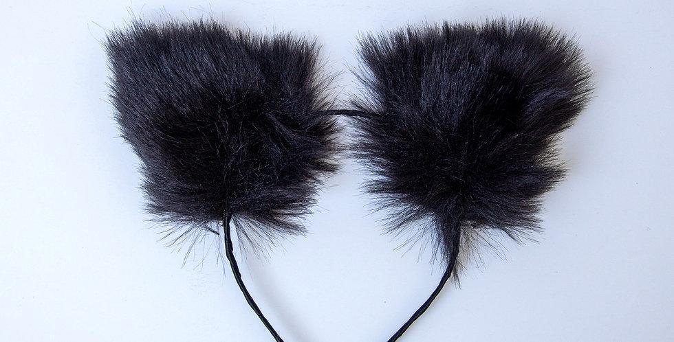 Winter Kitty Ear Black