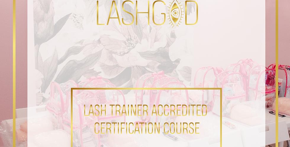 LASHGOD™ LASH TRAINER ACCREDITED CERTIFICATION COURSE