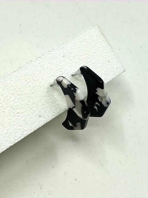 B&W Marble Earrings