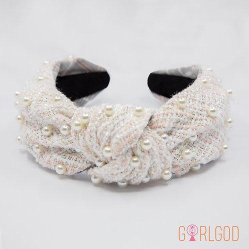 Cher Headband - Pink & White