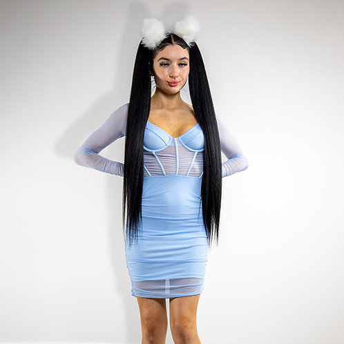 Snow Damsel Mini Dress