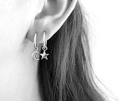 shop silver earrings