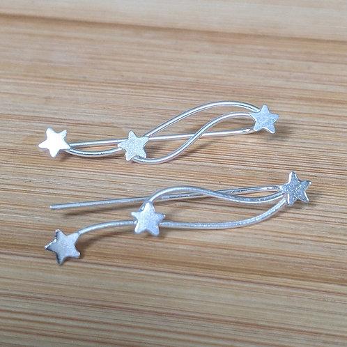 Shooting star ear climbers silver