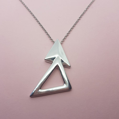 Helvellyn Silver Triangles Pendant