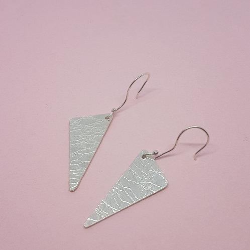 Textured Triangle Hook Earrings