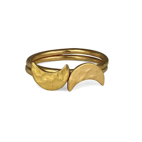 Cara Tonkin Selene Stacking Rings Gold