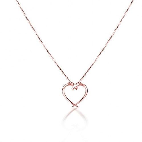 Rachel Galley Molto Heart Pendant Rose Gold Overlay