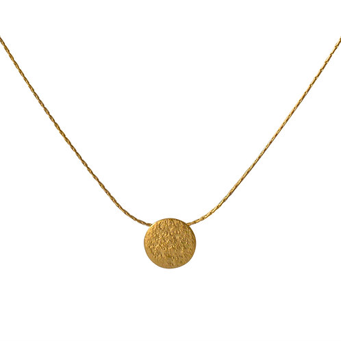 Cara Tonkin Paillette Tiny Disc Pendant Gold