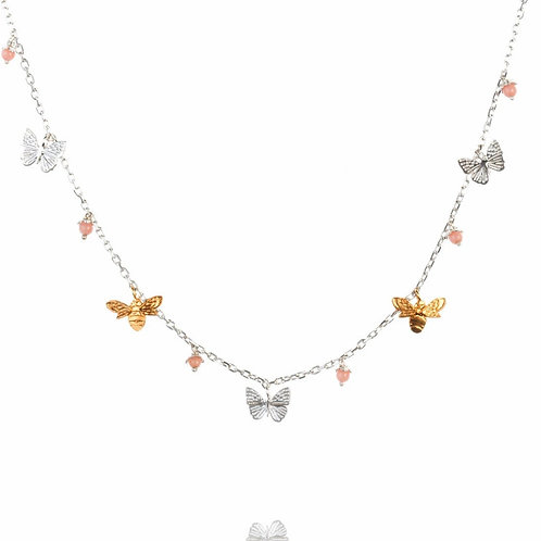 Amanda Coleman mini bee and butterfly necklace