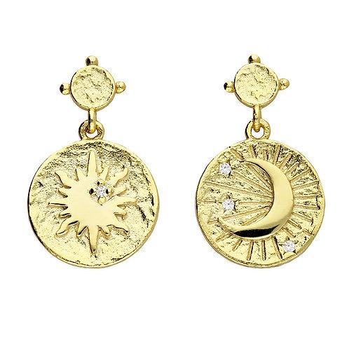 Sun & Moon Mini Drop earrings