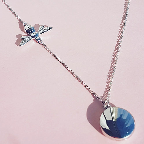 Bee locket sterling silver