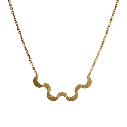 Cara Tonkin Selene Small Ripple Necklace Gold