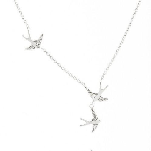 Amanda Coleman Three Swallows Necklace