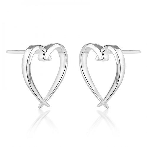 Rachel Galley Heart Earrings Silver
