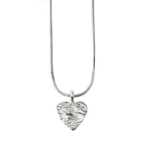 Chris Lewis Flat Heart Pendant Organic
