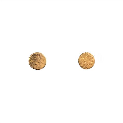 Cara Tonkin Paillette Medium Stud Earrings Gold