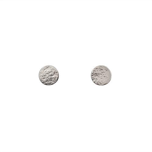 Cara Tonkin Paillette Medium Stud Earrings Silver