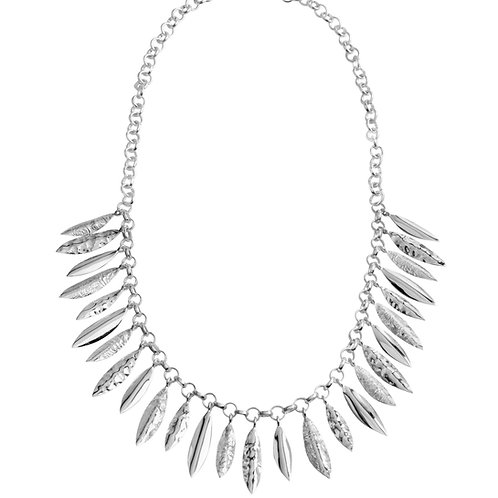 Chris Lewis Hanging Leaves Necklace