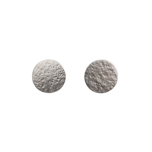 Cara Tonkin Paillette Large Stud Earrings Silver