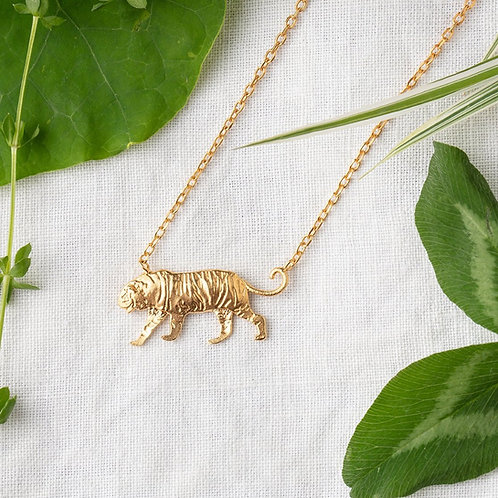 Amanda Coleman Tiger Necklace Gold