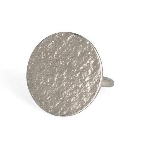 Cara Tonkin Paillette Large Disc Ring Silver