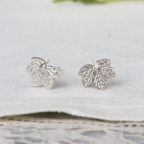 Amanda Coleman Sycamore Leaf Earrings - small studs