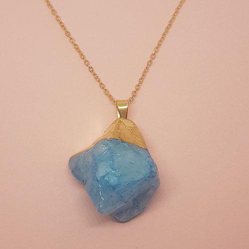 Ocean blue quartz pendant
